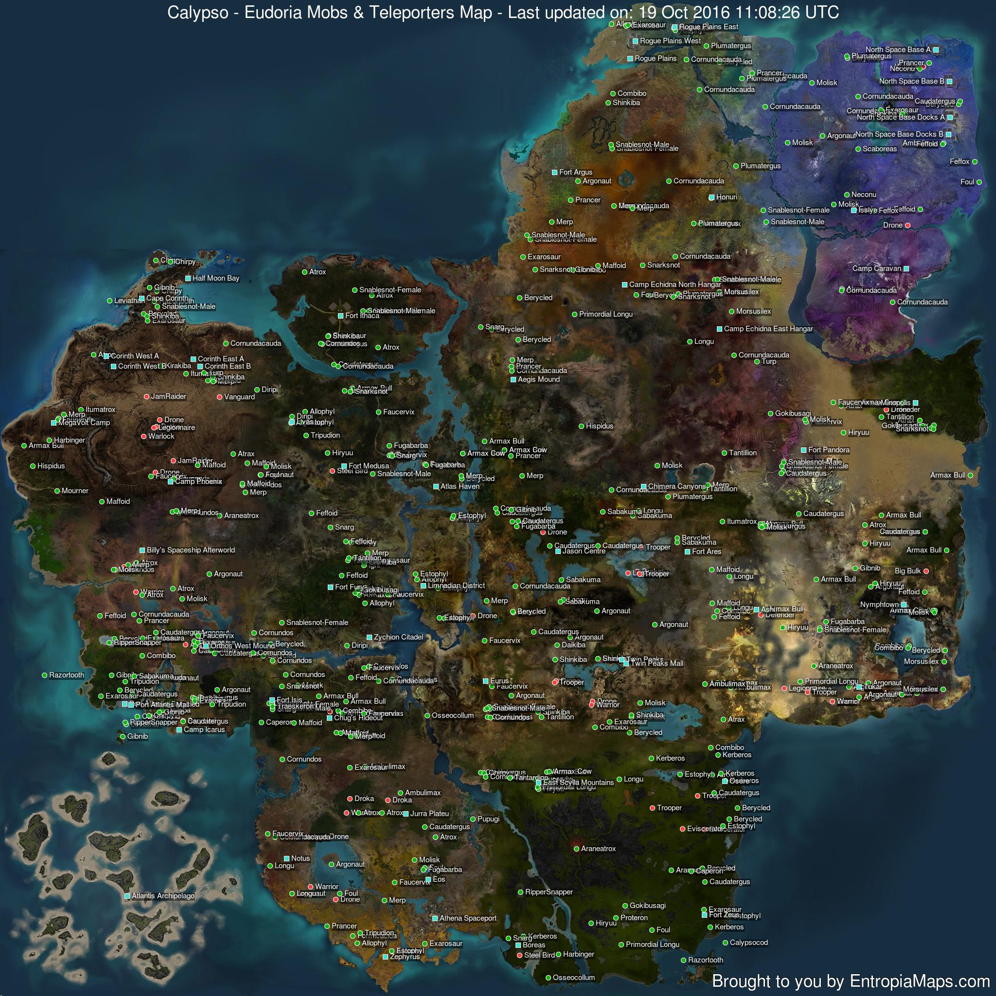 Planet Calypso - Maps